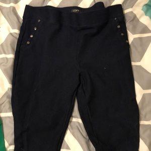 Stirrup faux pocket leggings
